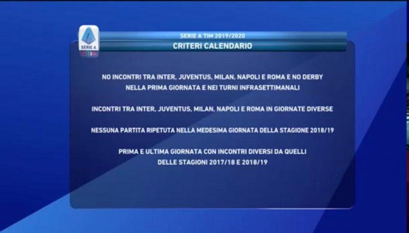 Calendario Serie A 2019 2020 Sorteggio Live Inizia La Nuova Stagione